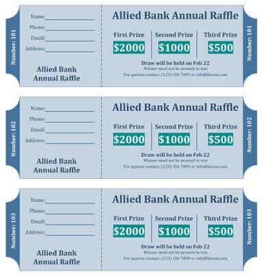 Cash Prize Raffle Ticket Template