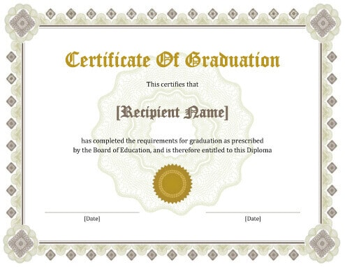graduation diploma template  11 Free Printable Degree Certificates Templates