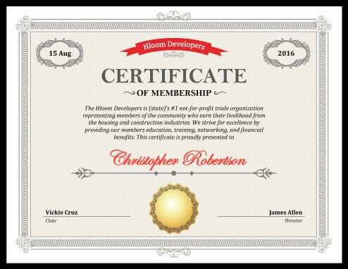 certificate of membership - Etame.mibawa.co