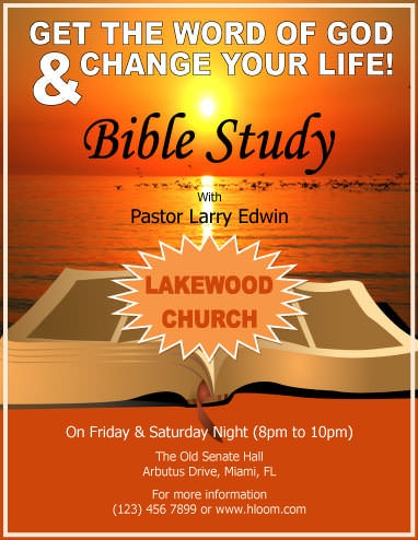 Change your life with pastor Edwin Flyer Template