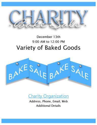 Charity Bake Sale Flyer
