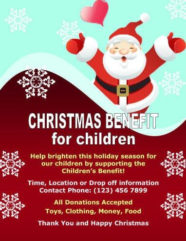 Charity Event with Santa Invitation