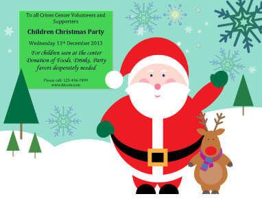 Children Christmas Party Invitation