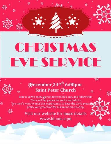 Christmas Eve Service Invitation Template