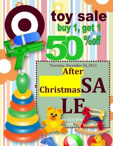 Christmas Toy Sale christmas flyer template