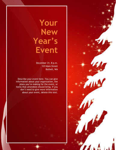 Christmas tree party flyer