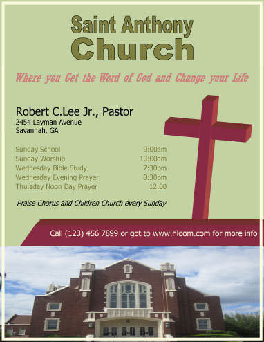 Church Information Flyer