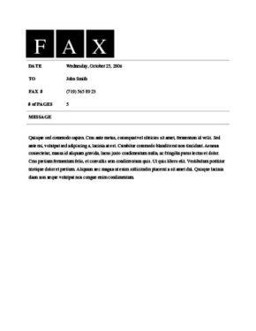 Clean Fax Template