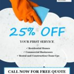 Cleaning discount offer cleaning flyer template