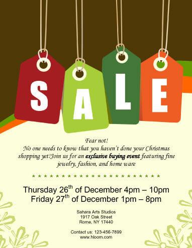 Colorful Sale Tags Sale Flyer