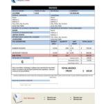 Compact format Proforma Invoice sample