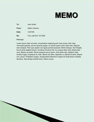 Corner lines memo
