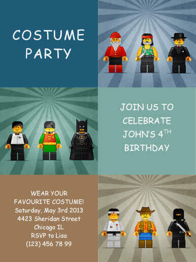 Costume Kids Party Invitation