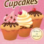 Cupcake Retro Bake Sale Flyer