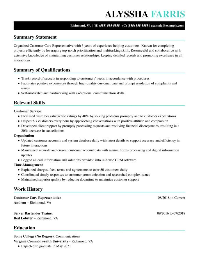 Rappresentante assistenza clienti - Artistico