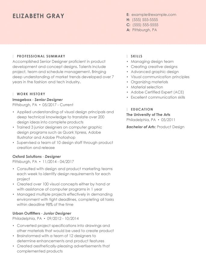Designer senior - Essenziale