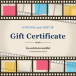 dinner and movie gift certificate