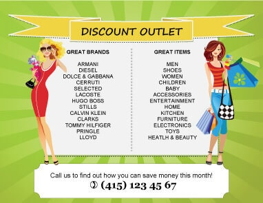Discount Outlet Flyer