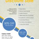 Plantilla de folleto para ofertas con descuentos