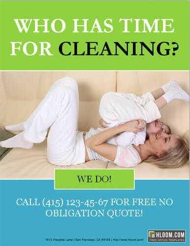 Do you have time for cleaning flyer