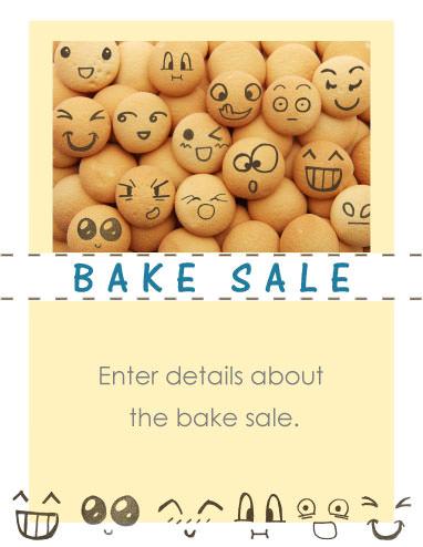 Egg Face Bake Sale Flyer