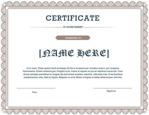 27 Printable Award Certificates Achievement Merit Honor