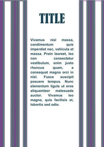 Pagina di presentazione elegante con barre laterali viola