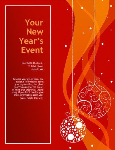 Elegant red decoration flyer