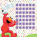 Tableau d'apprentissage de la propreté avec Elmo