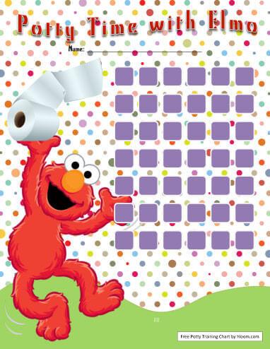 Elmo Potty Training Chart