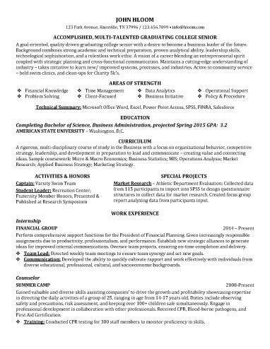 Entry Level Customer Representative Resume Sample