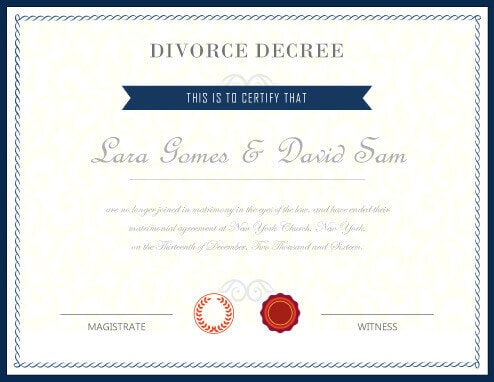 Fake Divorce Decree Certificate  Fake Divorce Papers