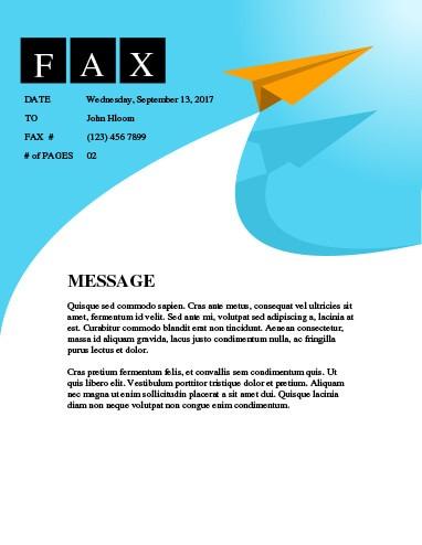 Flight Fax Template