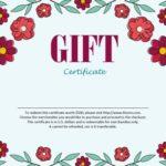 Certificado de regalo de flores