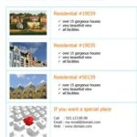 Real Estate Flyer for multiple properties