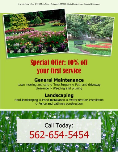 15 lawn care flyers free examples advertising ideas for General garden maintenance