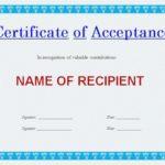 certificat d'approbation général