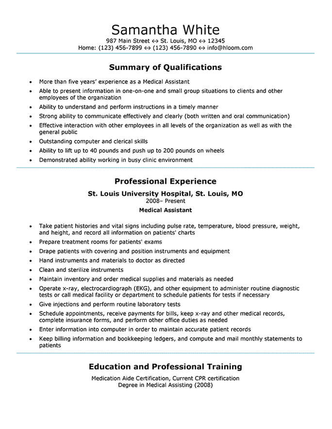 medical assistant resume templates and job tips