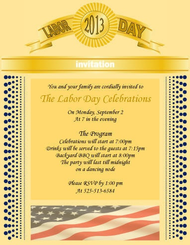 Golden Theme Formal invitation