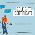 Certificado de regalo de golf