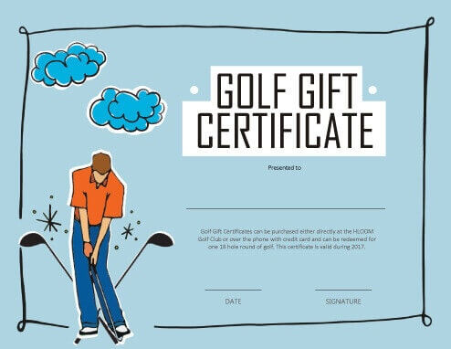 Golf Certificate Template Free 13 Free Printable Gift Certificate Templates Birthday Christmas
