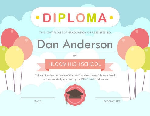 11 free printable degree certificates templates
