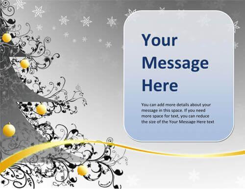 Gray elegant Christmas greeting card
