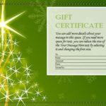 Green Christmas tree gift certificate