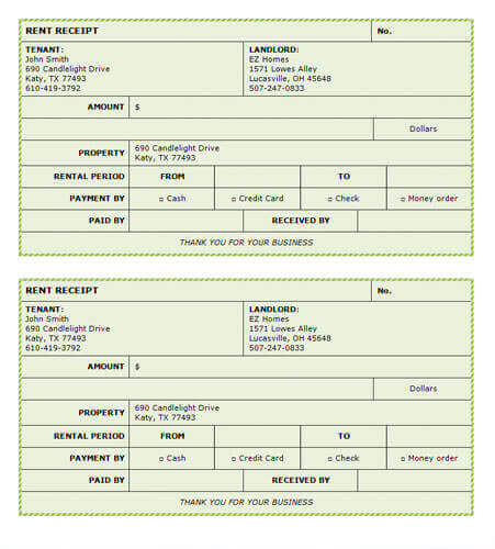 Free Rent Receipt Templates - Create your own invoice free streetwear online store