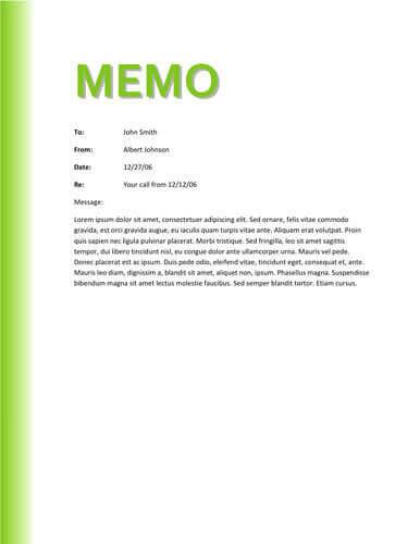 Green gradient memo