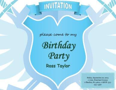 Heraldic Kids Party Invitation