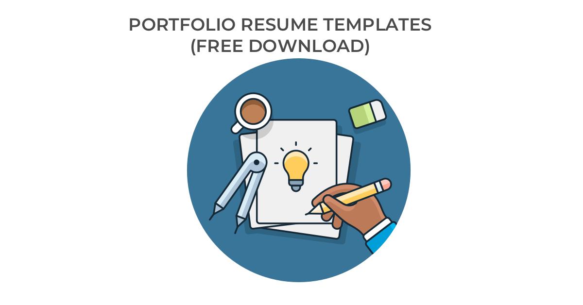 10 Portfolio Resume Templates Free Download Hloom