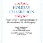 Invitation d'entreprise simple « Holiday Celebration »