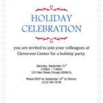 Holiday Celebration Simple Corporate invitation